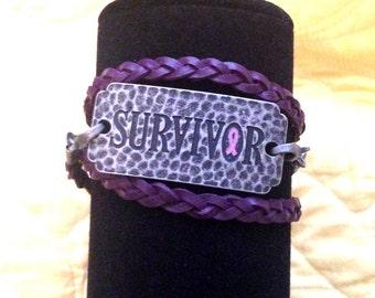 Breast Cancer Survivor Braided Wrap Bracelet