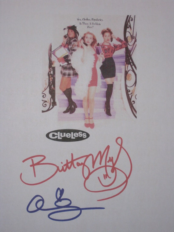 Clueless Signed Movie Film Screeplay Script X2 Autographs Brittany Murphy Alicia Silverstone signature funny film