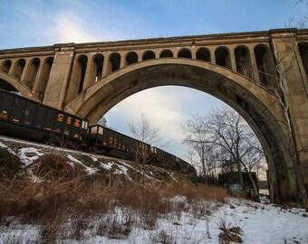 Winter on the CSX A-Line train bridge // Richmond, VA