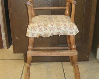 Vintage Baby Doll High Chair