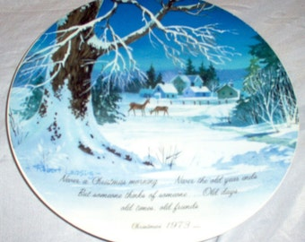 "WINTERSCENE Series COMMEMORATIVE EDITION 10 1/2"" Vintage Porcelain Plate"