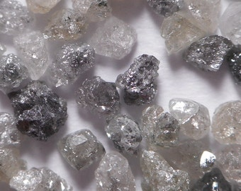 1.00MM to 1.50MM - 35 per 1 Carat - Natural Uncut Rough Diamond Rohdiamant Brut Diamant - White Black Gray Irregular Mixed