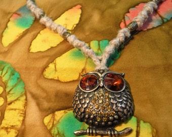 Owl Hemp Necklace