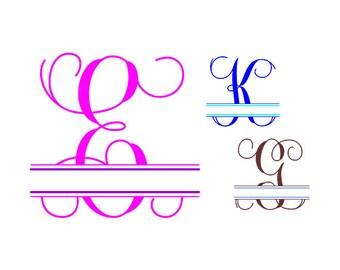 Split Monogram Svg, Split Letter Monogram, Split Font Svg, Split Alphabet Svg, Split Svg