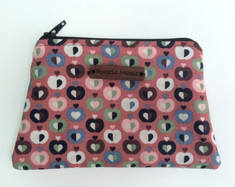 Handmade Alice Purse, Small Fabric Purse, Pouch, Zipper Purse, Coin Purse, Fully Lined