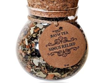 BATH TEA, Organic Bath Tea, Bath Teas, Sinus Relief Bath Tea, Organic Flowers, Organic Herbs, Gifts for Mom, Birthday Gift