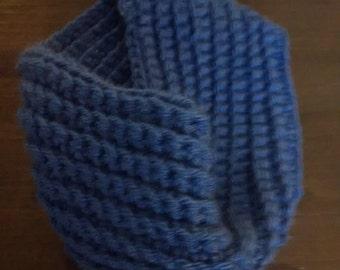 Blue Hand Crocheted Headband