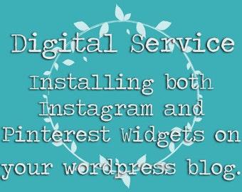 Digital Service: Installing a Pinterest and Instagram Widgets | Wordpress Blog