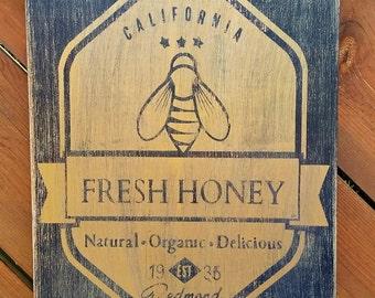 Honey Bee Sign Etsy