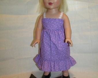 18 inch doll purple sun dress