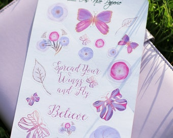 Serene Butterfly Decorative Planner Stickers