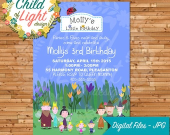 Ben and Hollys Little Kingdom Birthday Invitation
