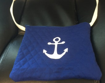 Nautical Girls Purse Quilted Fabric