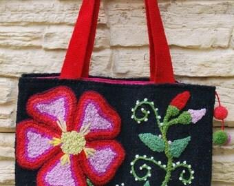 Peruvian bag, handbag, embroidered