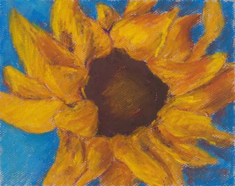 Sunflower and Blue