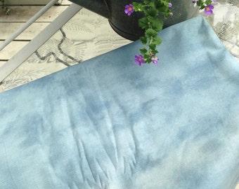 Vintage Variegated Blue Cotton Fabric 8 Yards