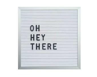 """10"""" x 10"""" Letter Board - White"""