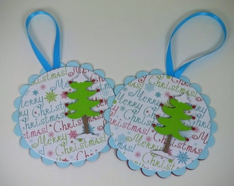 Christmas Gift Card Holder, Ornament Gift Holder, Christmas Ornament, Gift Card Holder, Set of 2