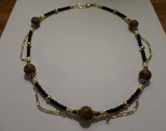 A-205 Agate Focal Necklace