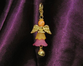 Charming Bell fairy in trendy pastel shades with golden wings