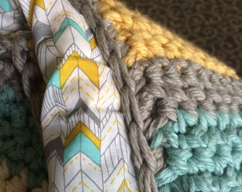 Fabric Lined Baby Blanket