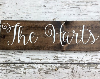 Family Wooden Sign // Last Name Wooden Sign // Name Wooden Sign // Wooden Sign