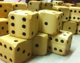 Wooden Lawn Dice