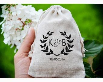 Personalized ring bearer bag, Wedding ring bag ,personalized ring holder, ring bearer pillow alternative, ring bag ,muslin bag TB5
