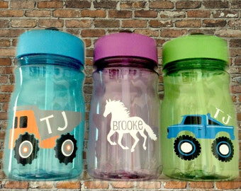 Water Bottles for Kids // Personalized bottles for kids // Sippy Cups for Kids // Customized Kids Water Bottles