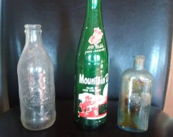 old bottles mountain dew coke apothecary