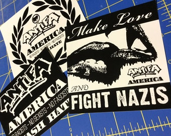 Antifa America - Vinyl Sticker Pack v01