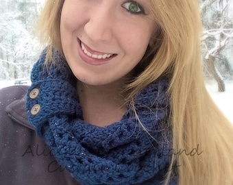 Blue Jean & Lace Infinity Scarf
