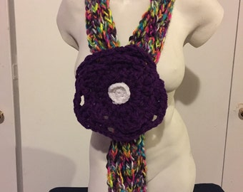 Scarf with adjustable flower!