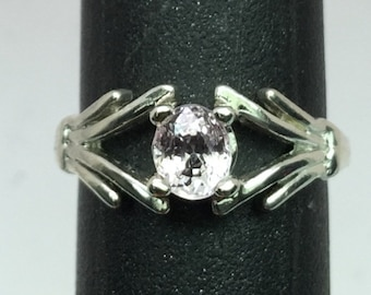 Natural Pink Spinel Silver Ring, FREE SIZING