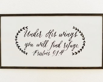 White Psalms 91 Sign