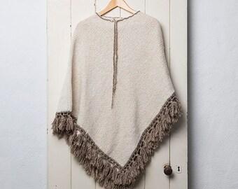 70's Knit Poncho