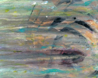 Abstract- 5x7 Acrylic Original Painting