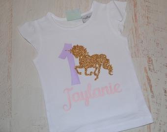 Girl's Unicorn Birthday Shirt