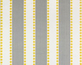 Gray and White Stripe Window Valance