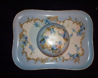 Antique Limoges Vanity Tray Set by W.G. & Co