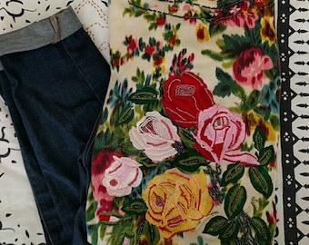 Vintage Anthro Floral Cardigan XS