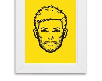 Customised Cartoon Face Print, Digital Download, Personalised