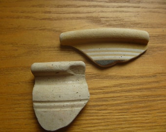 Sea pottery rims from Musselburgh, Scotland (2)