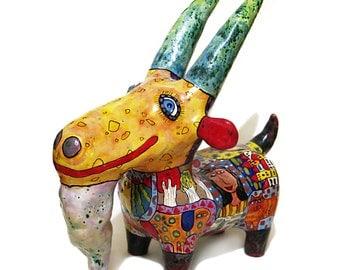 Ceramic goat, Goatling from ceramics, miniature figurine a goat, figurine goat, figurine goatling, ceramic figurine goat, big goat, goat