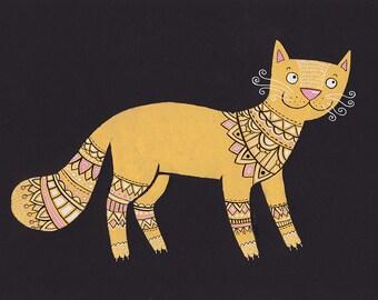 Cute yellow cat (original)
