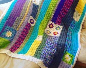 Crochet Patchwork Throw