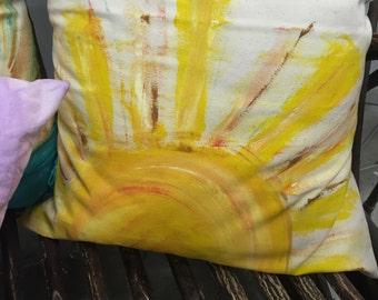 Hand painted pillow cases