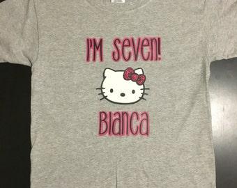 Hello kitty birthday shirt, hello kitty, hello kitty birthday, birthday shirt