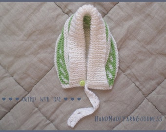 Knit baby hat, hand knitted newborn hat