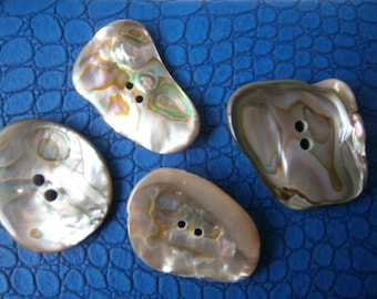 Abalone Buttons, Freeform Shape Organic Buttons
